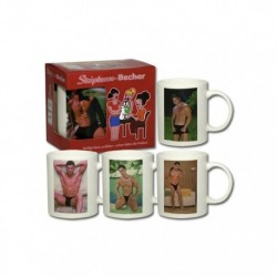 Set tazze erotiche- stripbecher boy