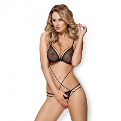 875-TED-1 crotchless teddy S/M black