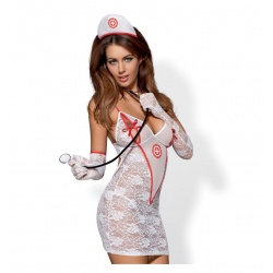 Costume da dottoressa sexy - MEDICA DRESS 5 PCS COSTUME S/M
